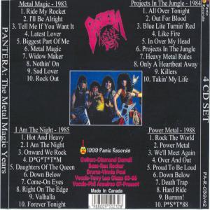The Metal Magic Years 4 CD Set CD1